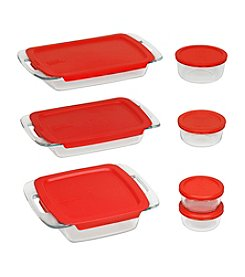 Pyrex® Easy Grab 14-pc. Bake and Store Set with Red Plastic Storage Lids