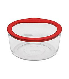 Pyrex® Premium No Leak Glass Round Storage Dish with Glass Lid and Silicone Gasket