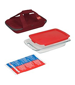 Pyrex® Portable 4-pc. Baking Dish Set with Portable Carrier