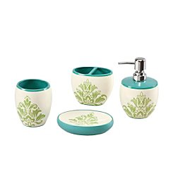 Mi Zone Katelyn Teal 4-pc. Bath Accessory Set