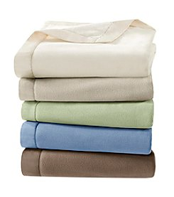 Premier Comfort Microfleece Blanket with Satin Binding