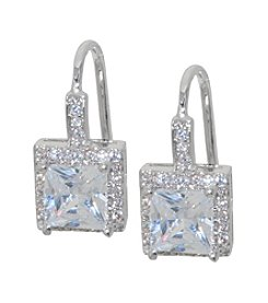 Fine Silver Cubic Zirconia Drop Earrings