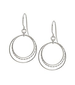 Sterling Silver Open Circles Drop Earrings