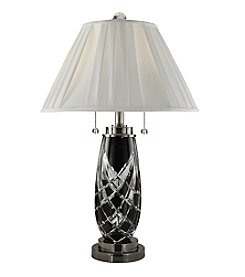 Dale Tiffany Black Shield Crystal Table Lamp