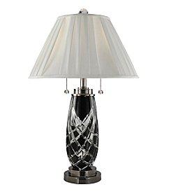 Dale Tiffany Black Shield Crystal Table Lamp