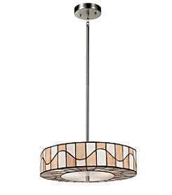 Dale Tiffany Sandfield Satin Nickel Pendant Lighting Fixture