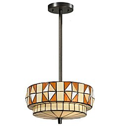Dale Tiffany Wescott Dark Bronze Pendant Lighting Fixture