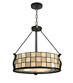 Dale Tiffany Sandy Beach Dark Bronze Pendant Lighting Fixture