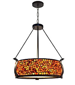 Dale Tiffany Pebblestone Dark Bronze Pendant Lighting Fixture