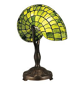 Dale Tiffany Green Nautilus Table Lamp