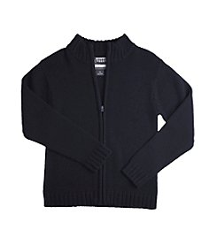 French Toast® Boys' 4-20 Navy Zipper Front Sweater