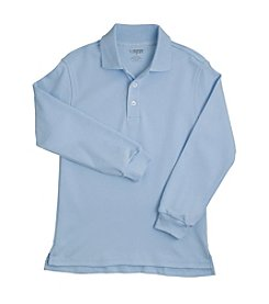 French Toast® Boys' 4-20 Long Sleeve Interlock Knit Polo