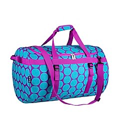Wildkin Big Dot Aqua Traveler Duffel