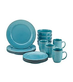 Rachael Ray® Cucina Agave Blue 16-pc. Dinnerware Set