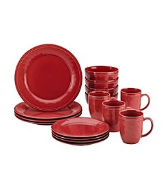 Rachael Ray® Cucina Cranberry Red 16-pc. Dinnerware Set