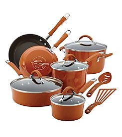 Rachael Ray® Cucina 12-pc. Pumpkin Orange Hard Enamel Nonstick Cookware Set + FREE Gift see offer details
