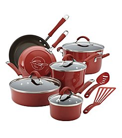 Rachael Ray® Cucina 12-pc. Cranberry Hard Enamel Nonstick Cookware Set