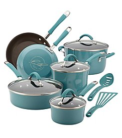Rachael Ray® Cucina 12-pc. Agave Blue Hard Enamel Nonstick Cookware Set + FREE Gift and $30 Cash Back by Mail see offer deta