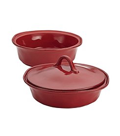 Rachael Ray® Cucina 2-pk. Cranberry Red Casseroles with Lid