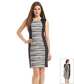 R&M Richards® Petites' Sleeveless Panel Dress