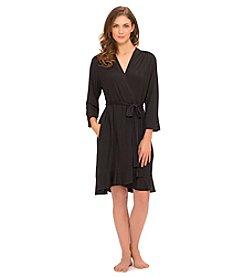 Ellen Tracy® Knit Short Robe - Black