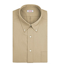 Izod® Men's Taupe Long Sleeve Twill Dress Shirt
