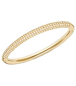 Swarovski® Gold Plated Golden Shadow Crystal Stone Mini Bangle