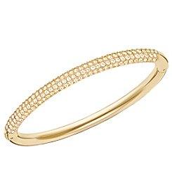 Swarovski® Gold Plated Golden Shadow Crystal Stone Mini Bangle