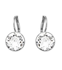 Swarovski® Silvertone Clear Crystals Bella Pierced Earrings