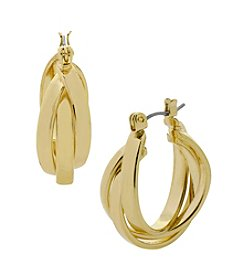 Kenneth Cole® Goldtone Twisted Hoop Earrings