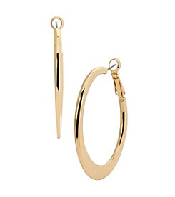 Kenneth Cole® Goldtone Edge Hoop Earrings