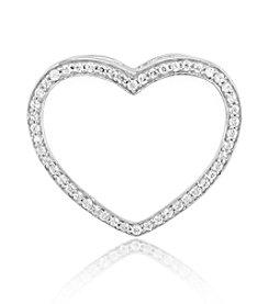 0.25 ct. t.w. Diamond Sterling Silver Open Heart Pendant