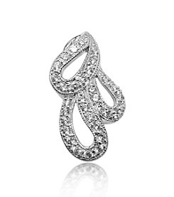 0.33 ct. t.w. Diamond Sterling Silver Three Paisley Pendant