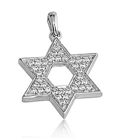 0.33 ct. t.w. Diamond Sterling Silver Star of David Pendant