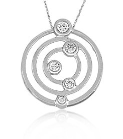 0.25 ct. t.w Diamond Three Circle Sterling Silver Pendant