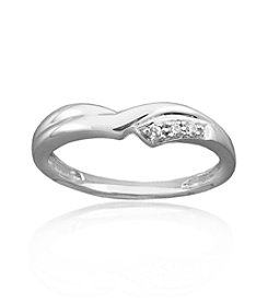 0.05 ct. t.w. Bead Set Diamond Sterling Silver Ring