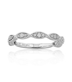 0.25 ct. t.w. Diamond Marquis Shapes Sterling Silver Thin Band