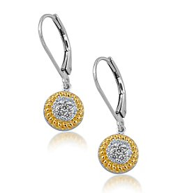 0.25 ct. t.w. Diamond Two Tone Drop Earrings