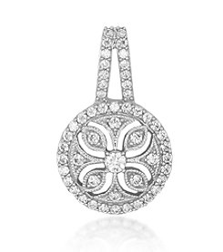 0.50ct t.w Diamond Sterling Silver Estate Pendant