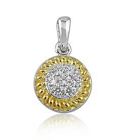 0.12 ct. t.w. Diamond Two-Tone Round Pendant