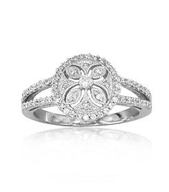 0.33ct t.w. Diamond Sterling Silver Round Estate Ring