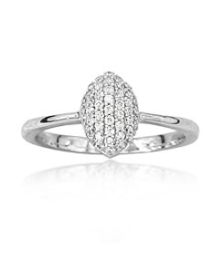 0.25ct t.w. Diamond Pave Marquis Sterling Silver Ring