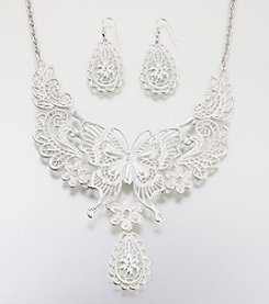 Lillian Rose® Butterfly Jewelry Set