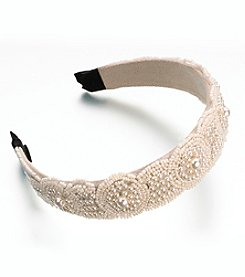 Lillian Rose® Beaded Headband in Ivory