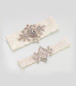 Lillian Rose® Jeweled Garter Set