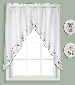 United Curtain Co. Butterfly Swag Valance