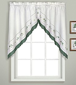 United Curtain Co. Gingham Swag Valance