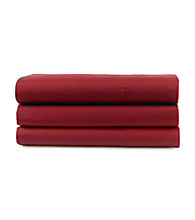 LivingQuarters Loft Cabernet Red 225-Thread Count Percale Sheet Sets
