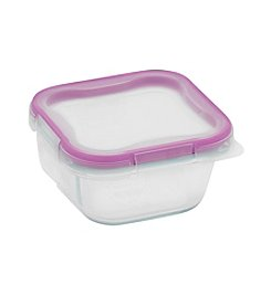 Snapware® 1-Cup Glass Square Container With Total Solution Lid