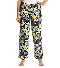 HUE® Black/Multi Knit Pants - Scent of Flowers